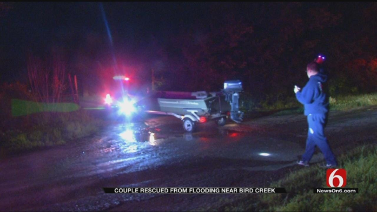 Couple Rescued From High Water East Of Sperry