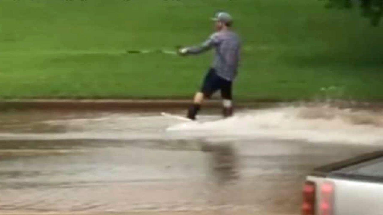 WATCH: Students Ski Stillwater After Record Rainfall