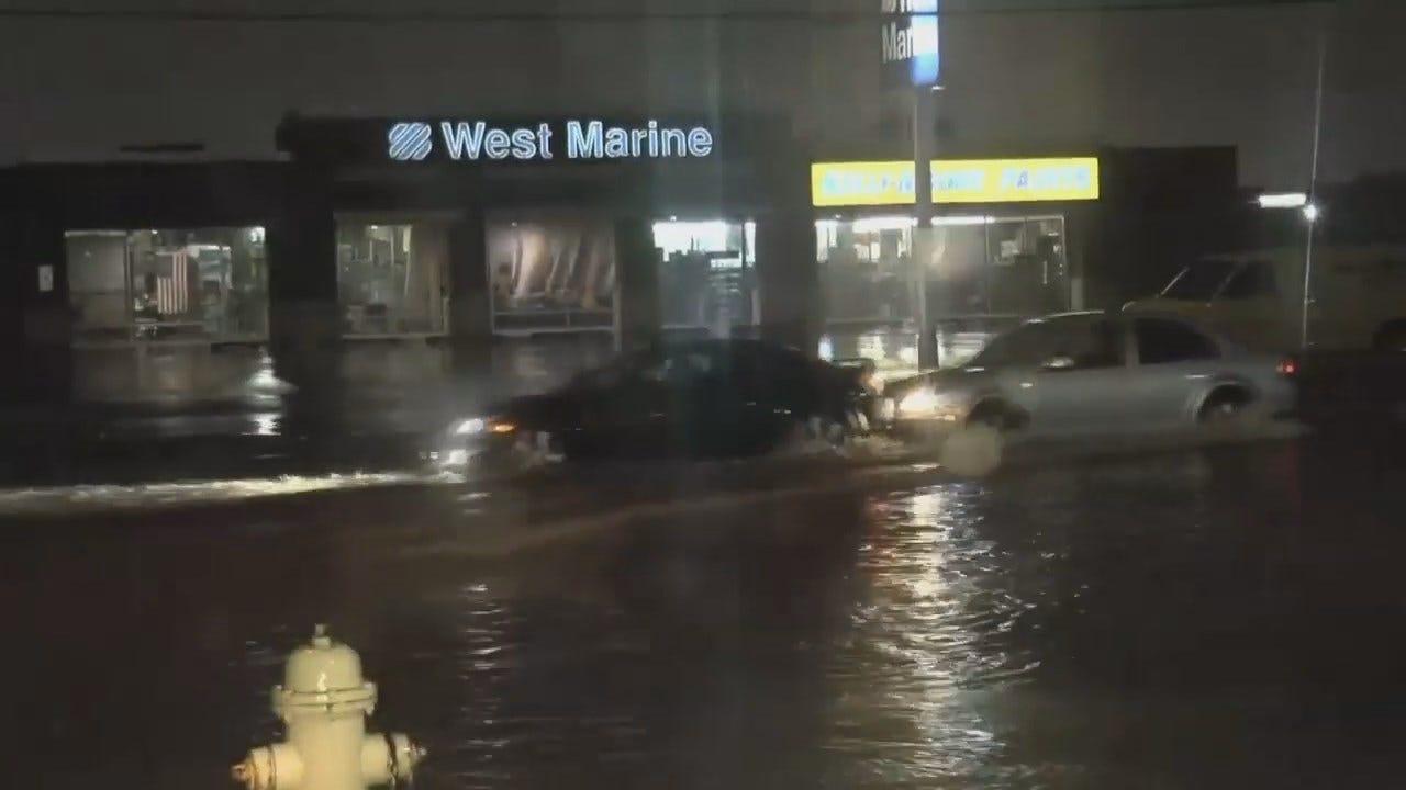 WEB EXTRA: High Water Across Sheridan At 43rd Street In Tulsa
