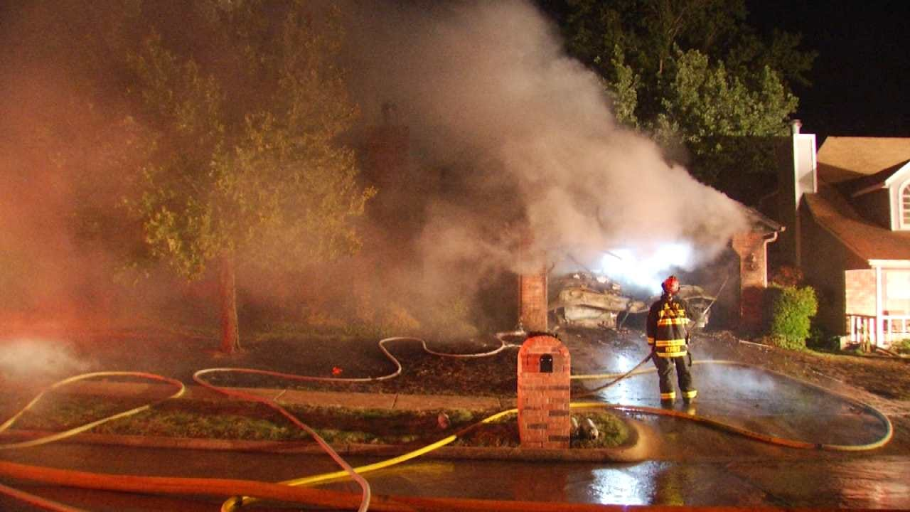 WEB EXTRA: Video From Scene Of Jenks House Fire