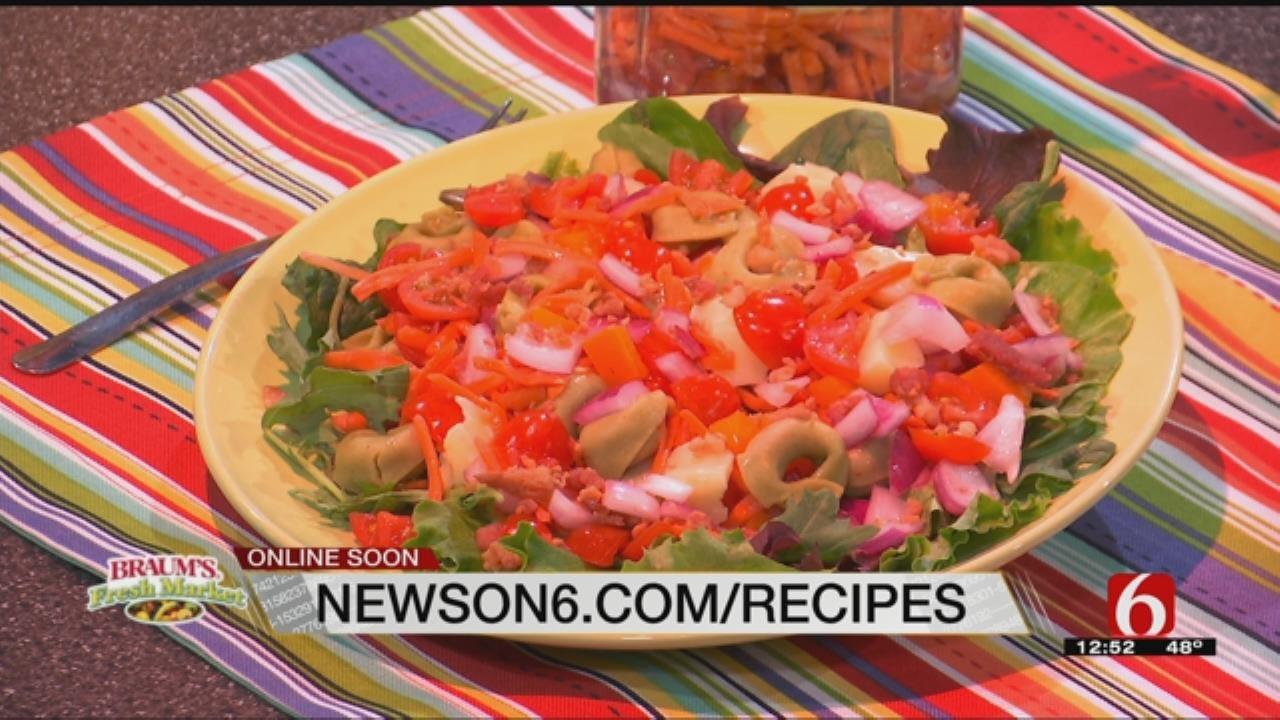 Mason Jar Tortellini Salad