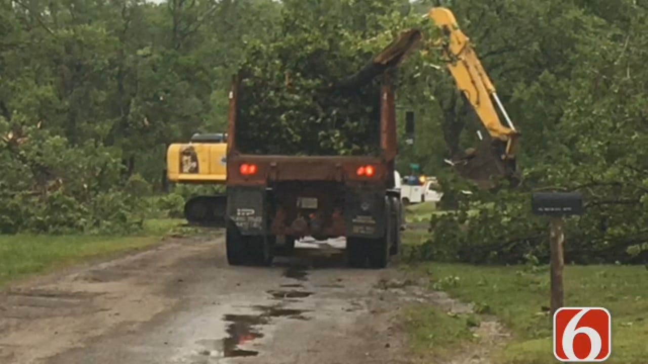 Joseph Holloway: Crews Survey Storm Damage In Mayes County