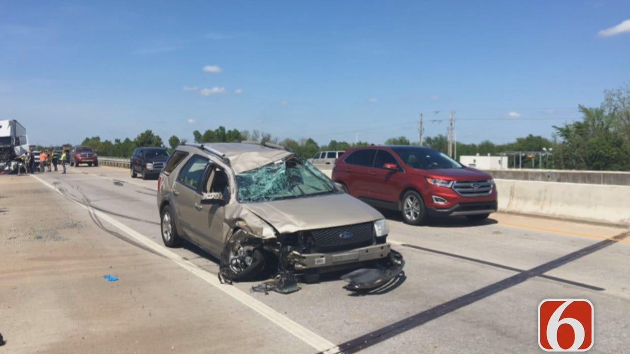 Justin Shrair: SUV Clips Semi On Tulsa Highway