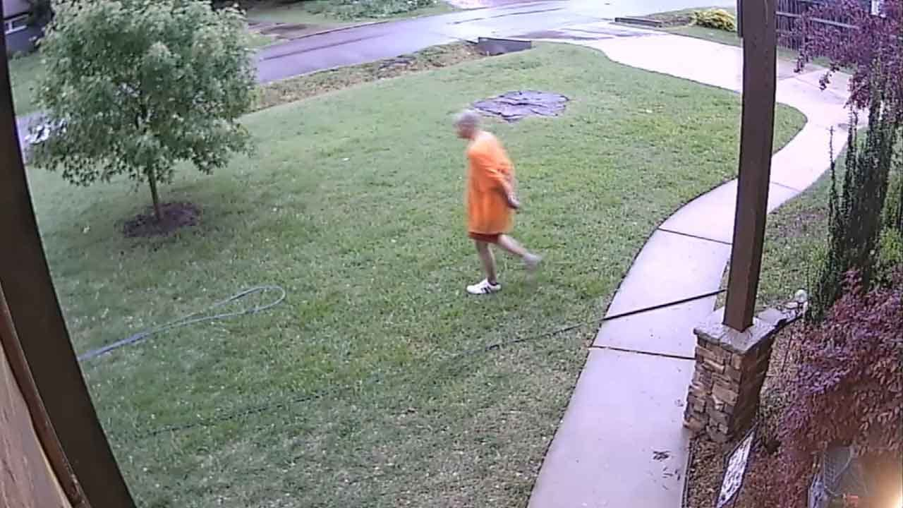 WEB EXTRA: Home Security Video Shows Escaped Suspect Hiding In Neighborhood