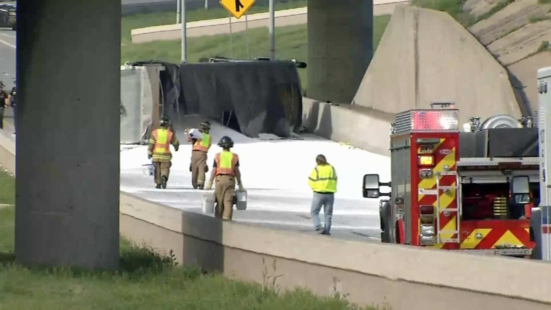 Joseph Holloway: Semi Dumps Load On Westbound Highway 412