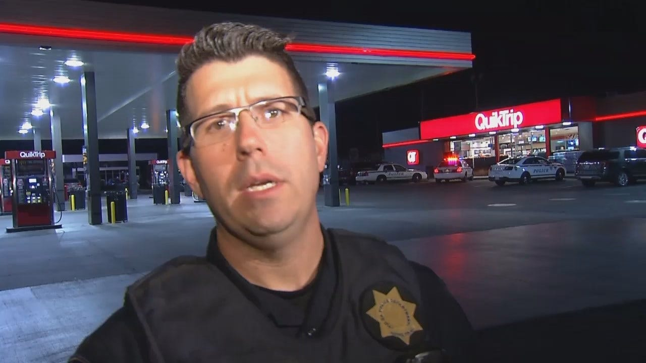 WEB EXTRA: Tulsa Police Sgt. Brandon Smith Talks About QT Robbery