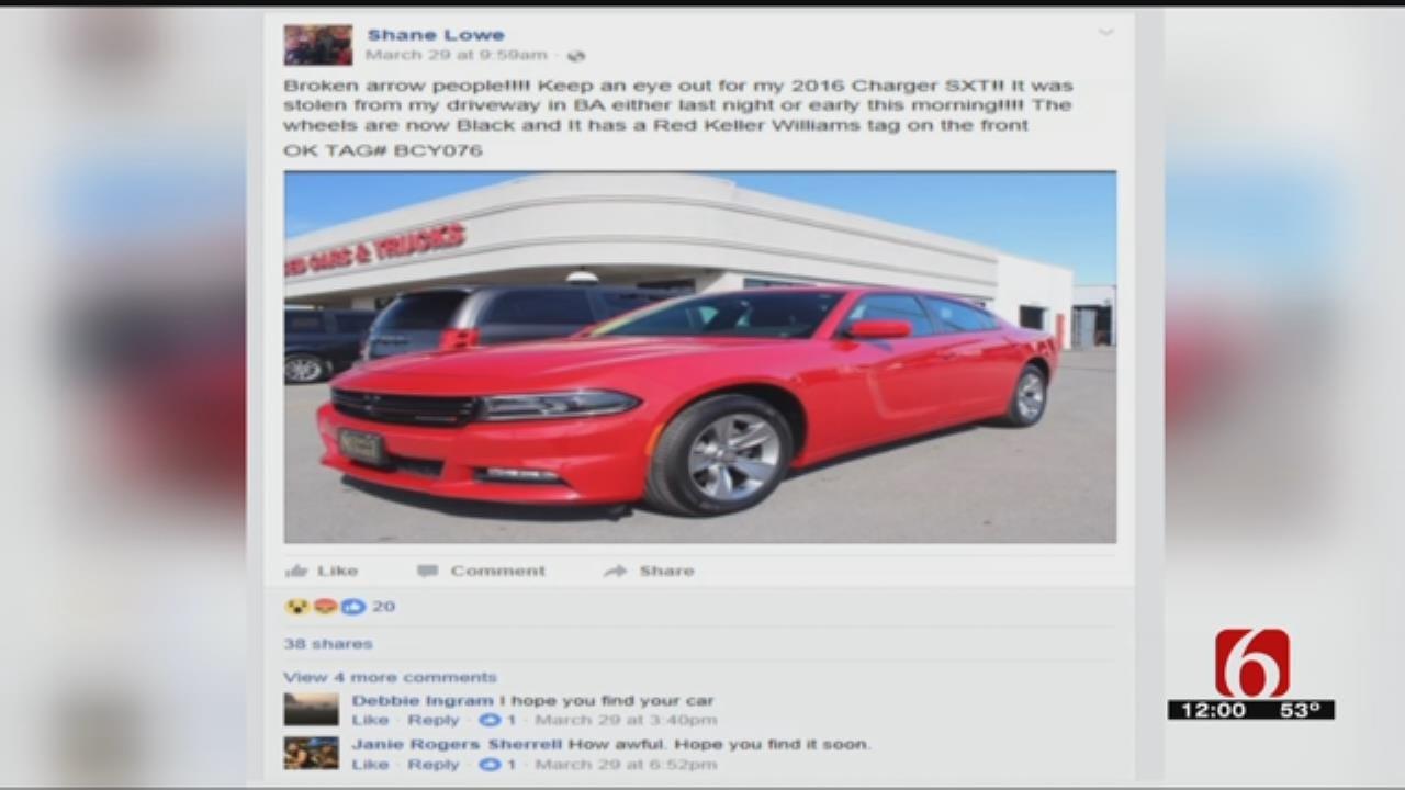 Broken Arrow Veteran's Car Stolen, Used In Other Crimes Across State