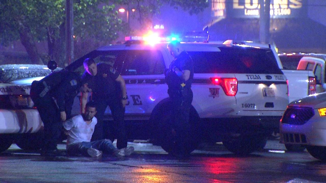 WEB EXTRA: Man Arrested Outside Tulsa Club Rio