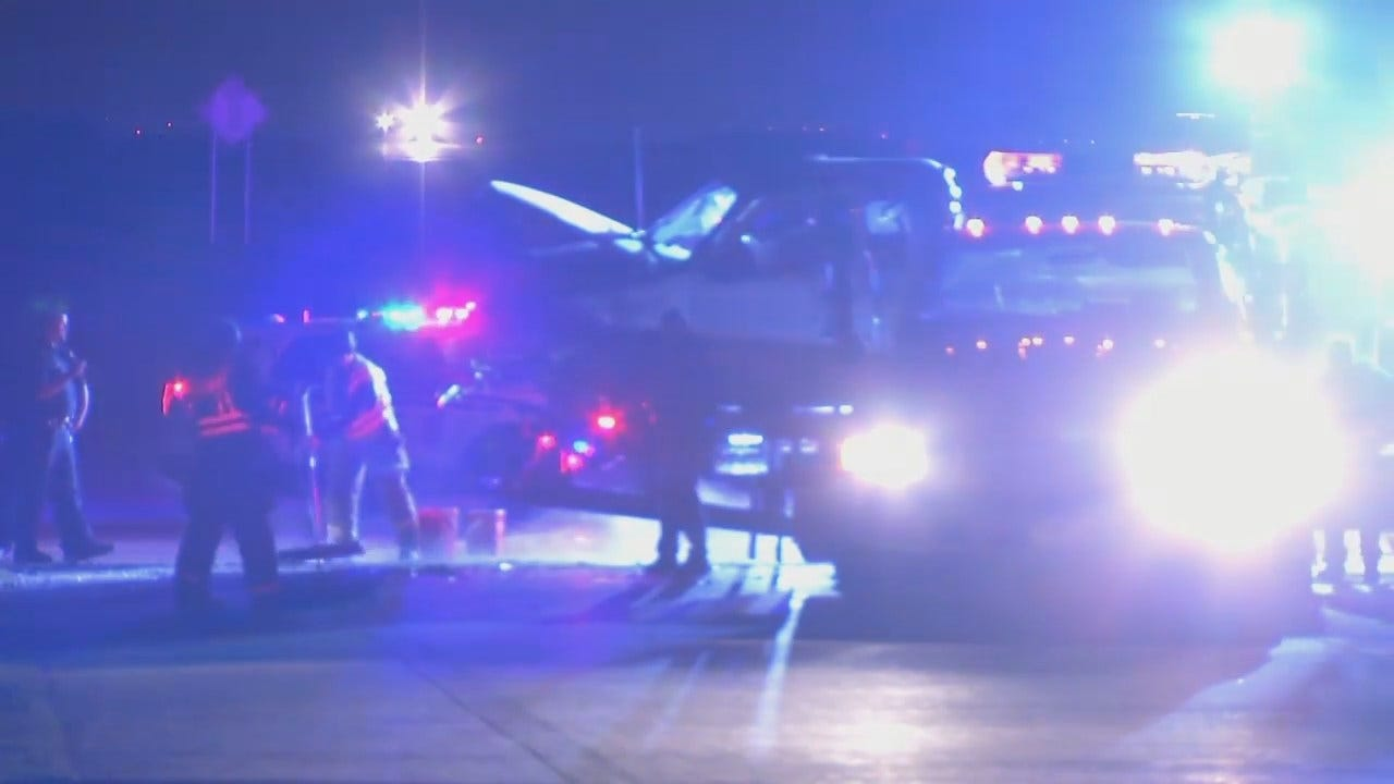 WEB EXTRA: Video From The Scene Of Highway 75 Head-On Crash