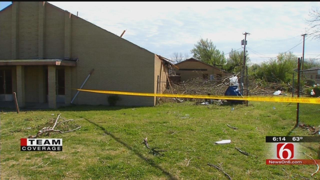 Tornado Damages Church, Power Lines In North Tulsa