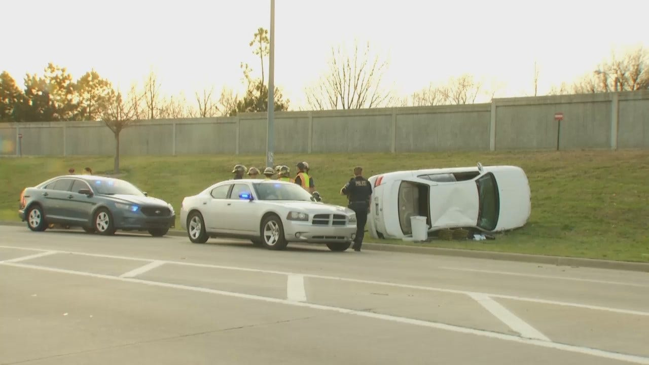 WEB EXTRA: Video From Scene Of Fatal Crash On Tulsa Highway Exit Ramp