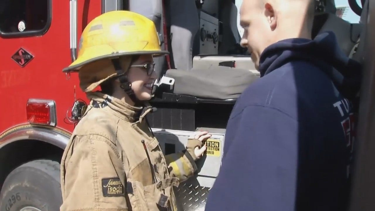 WEB EXTRA: Sawyer Buccy Tries Her Hand At Fighting Fires