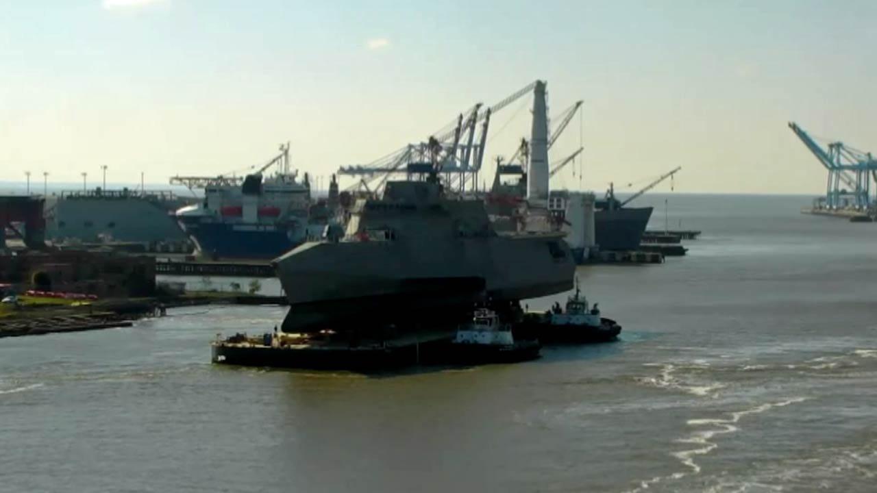 WEB EXTRA: Shipbuilder, Austal USA, Launched The USS Tulsa