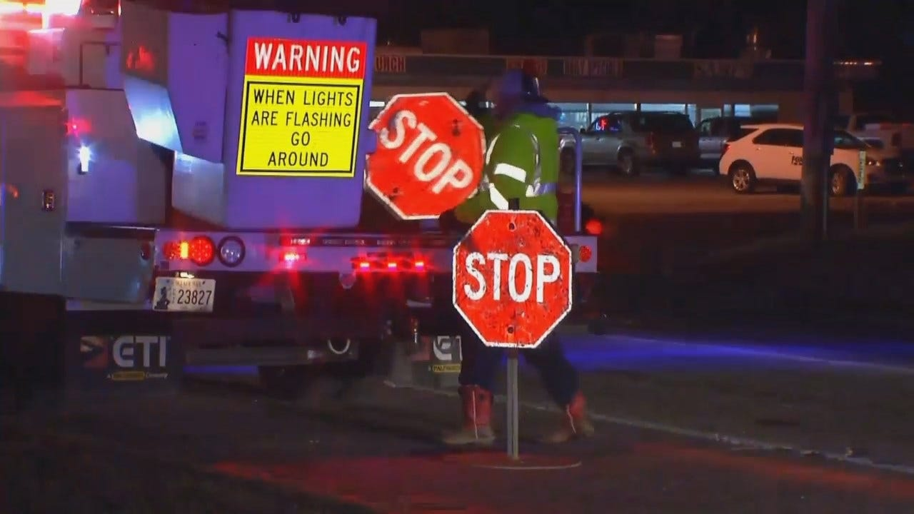 WEB EXTRA: Video From Scene Of Two Vehicle Crash At Tulsa Intersection