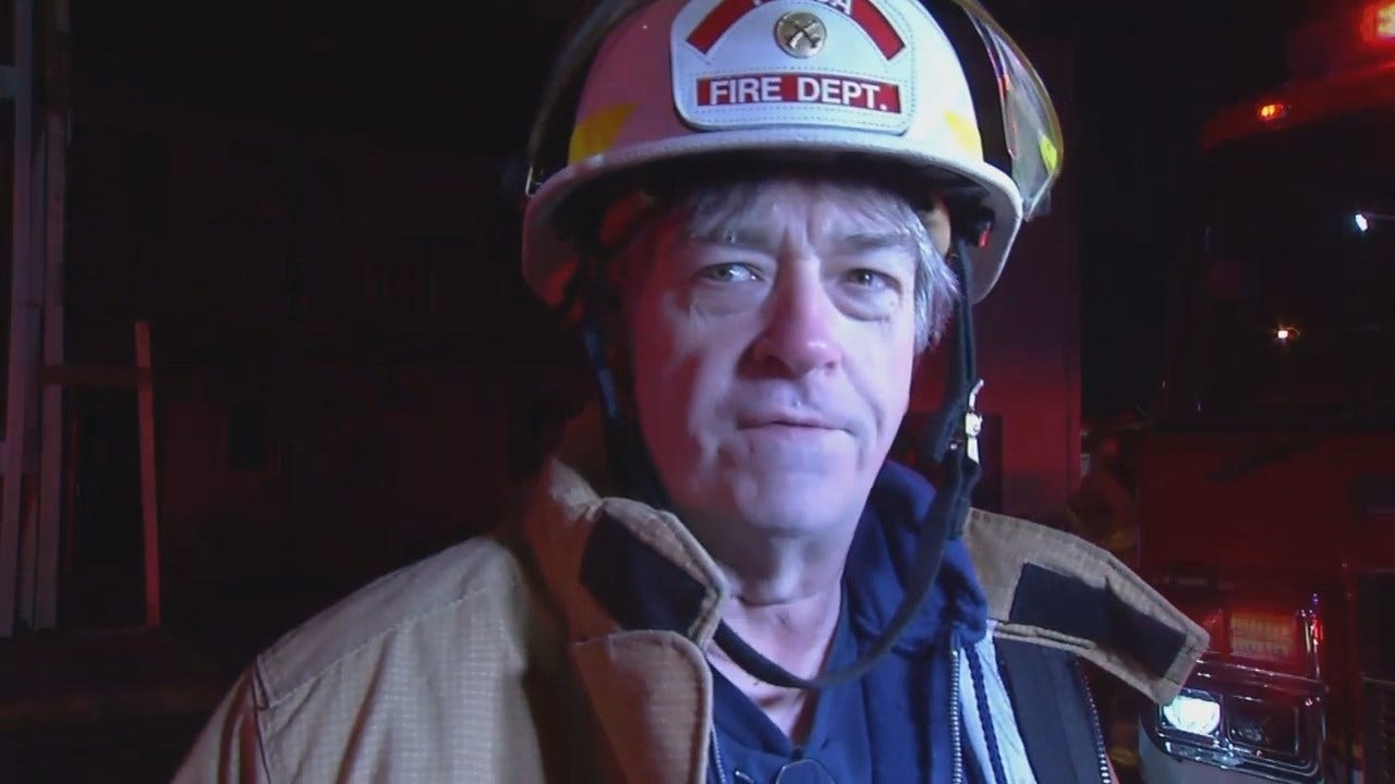 WEB EXTRA: Tulsa Fire District Chief Jim Long Talks About The Fire