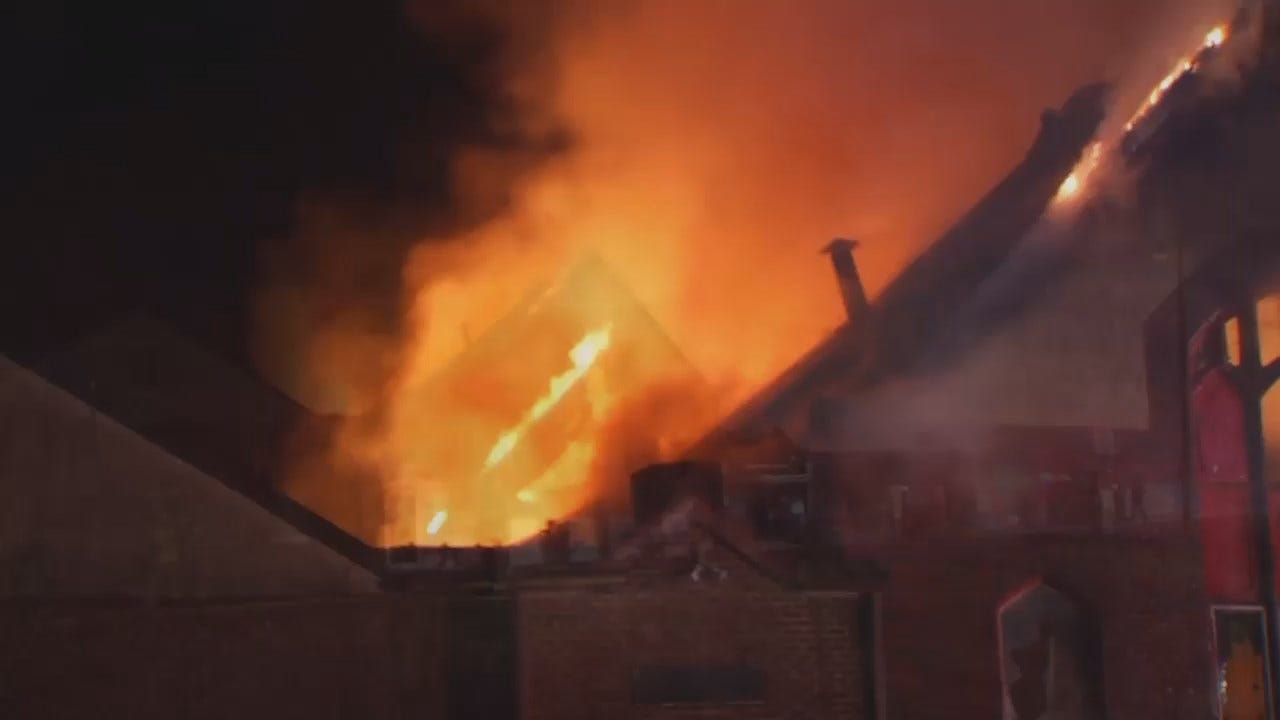 WEB EXTRA: Video From Scene Of Turley Building Fire