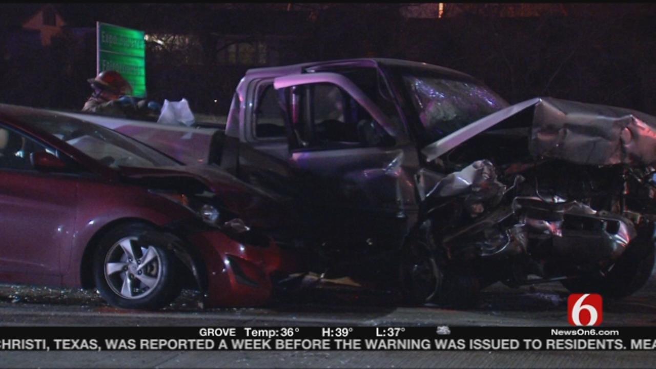 Wrong-Way Driver Causes Three-Vehicle Crash