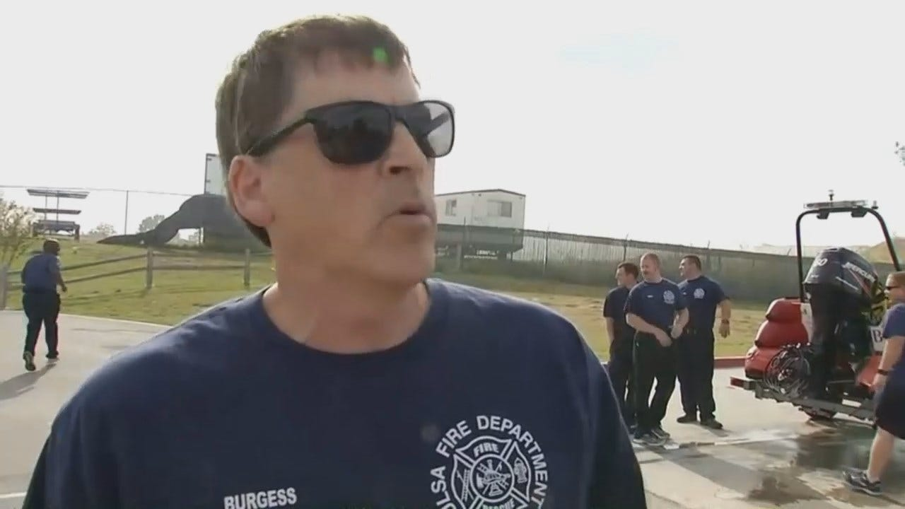 WEB EXTRA: Tulsa Fire Captain Mike Burgess Talks About River Rescue