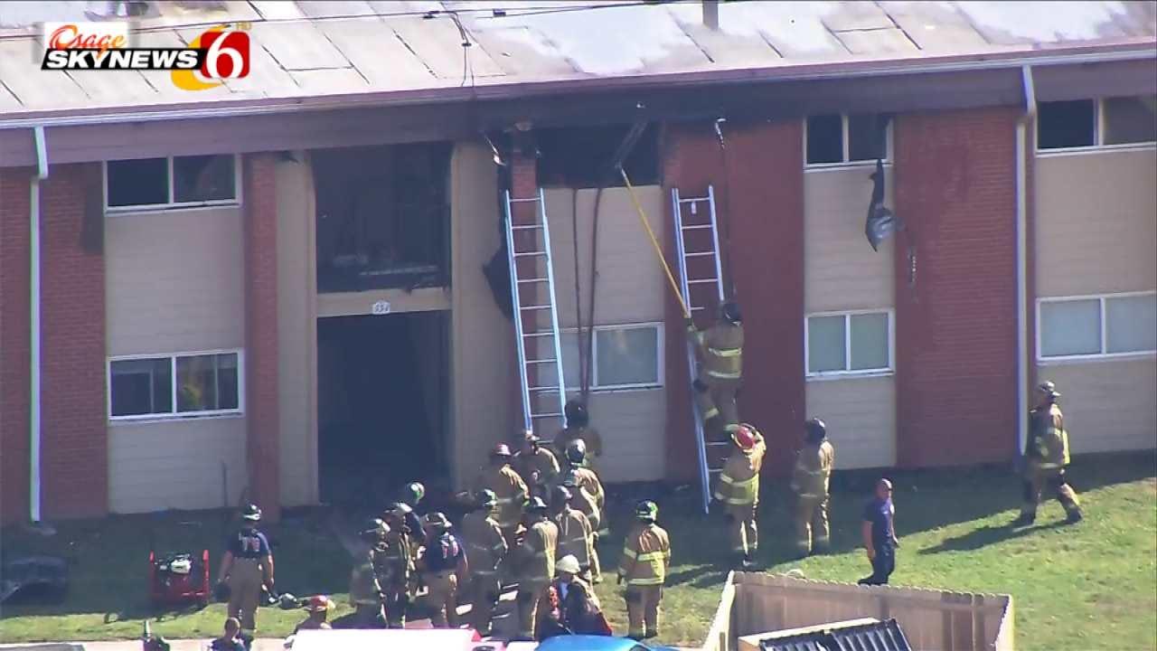 Osage SkyNews 6 HD: Tulsa Apartment Fire