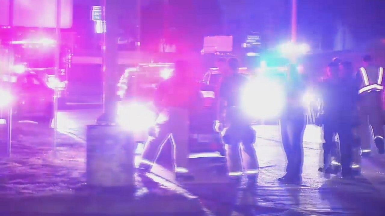 WEB EXTRA: Video From Scene Of Auto-Pedestrian Crash On Tulsa's Skelly Drive