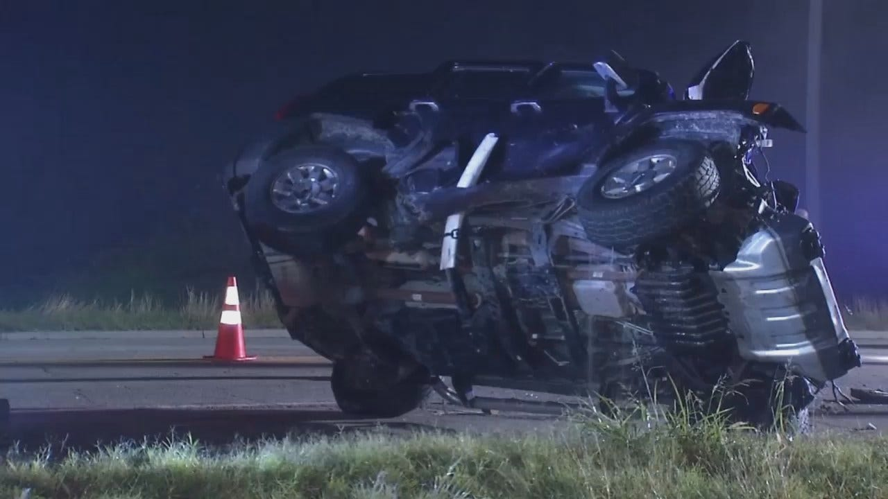 WEB EXTRA: Video Of Highway 75 Crash Scene South Of Bartlesville