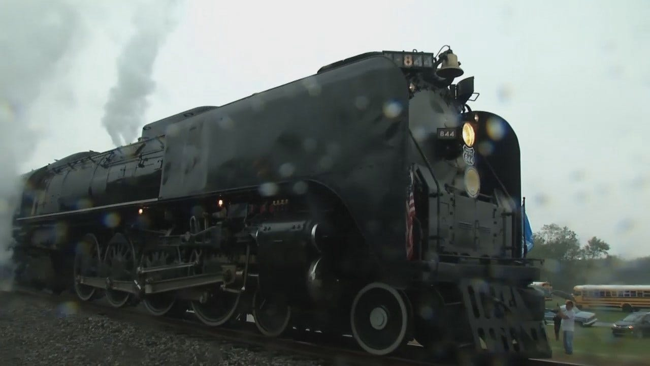 WEB EXTRA: Union Pacific's Steam Engine 844 Makes Stops In Oklahoma