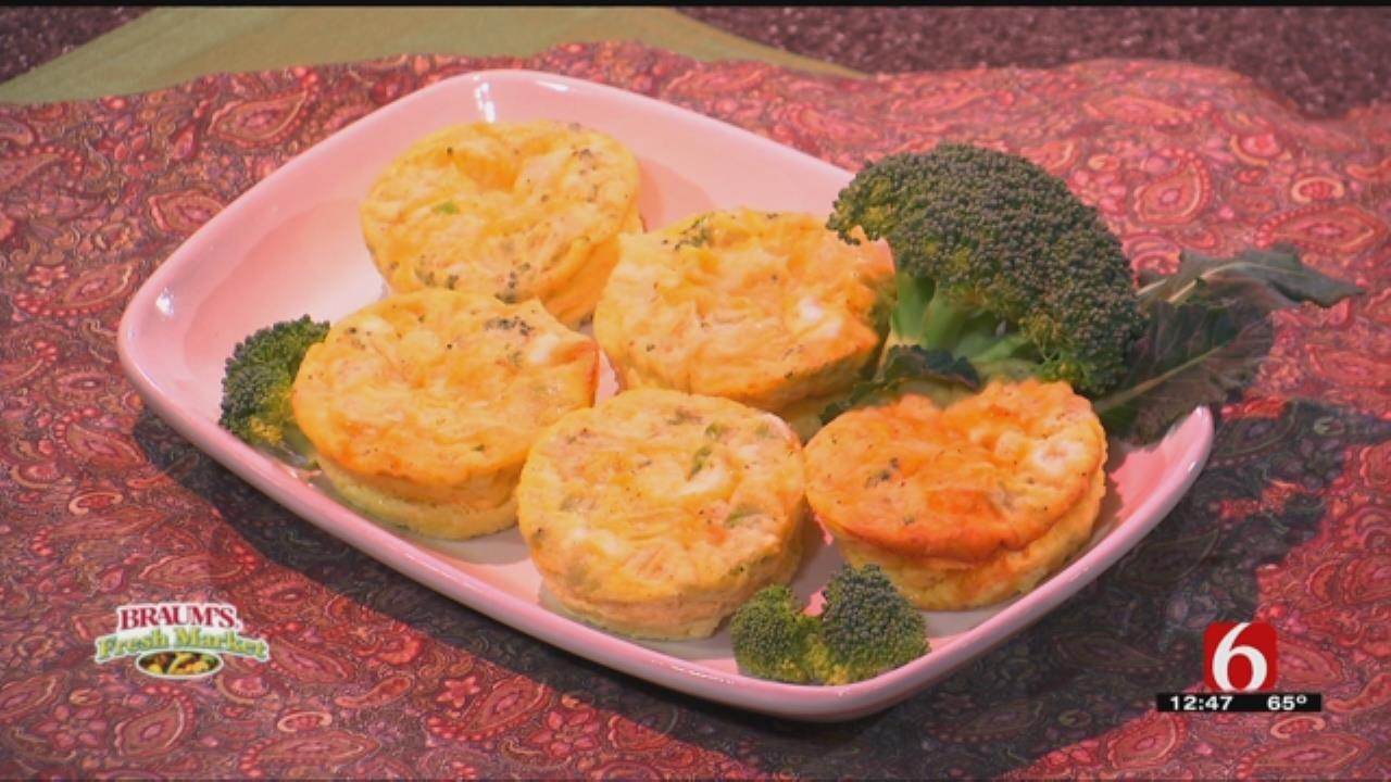 Crustless Broccoli Cheddar Quiche Muffins