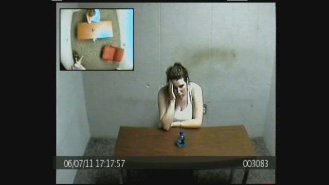 WEB EXTRA: Amber Hilberling In Interrogation Room, Part 1