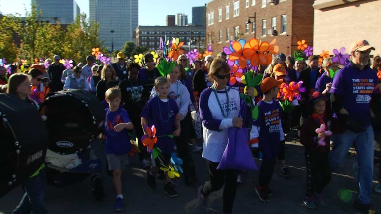 WEB EXTRA: Walkers Taking Part In Alzheimer's Fundraiser