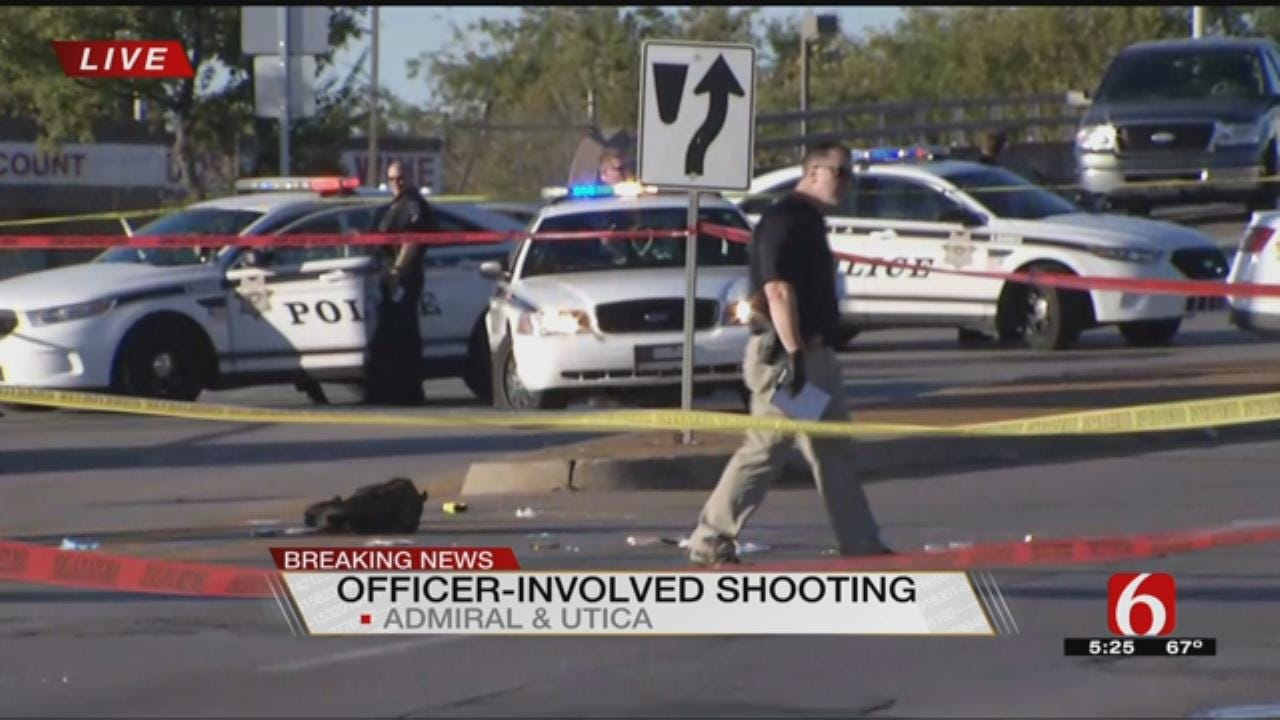 Tulsa Police Officer Shoots Man Holding Knife At Admiral & Utica