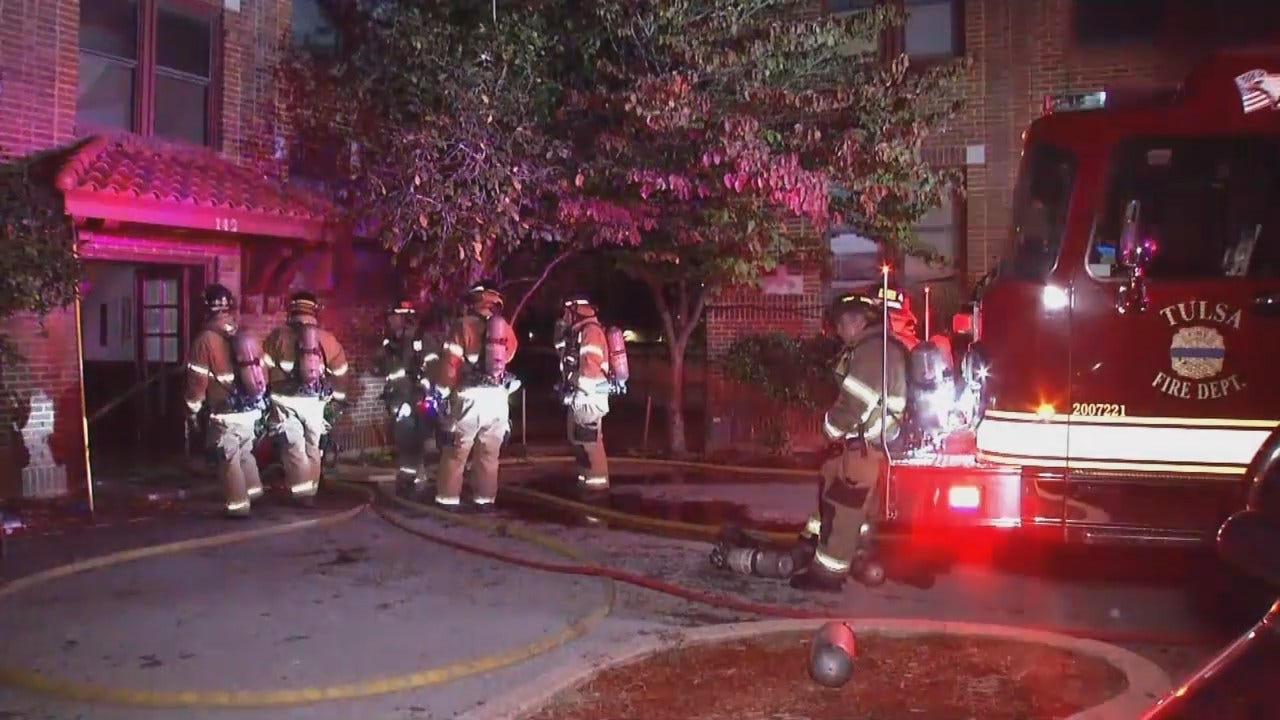WEB EXTRA: Firefighters Put Out Flames At Tulsa Apartment Complex