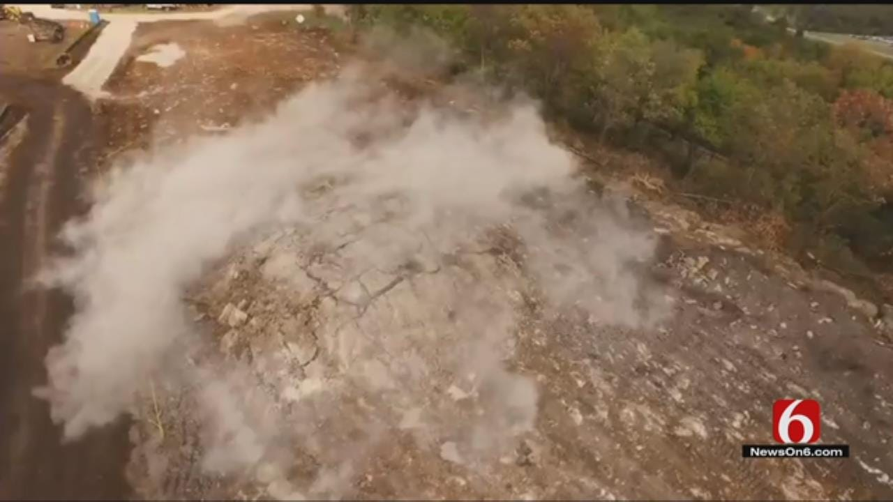 Drone Captures Video Of Catoosa Road Project Blasting