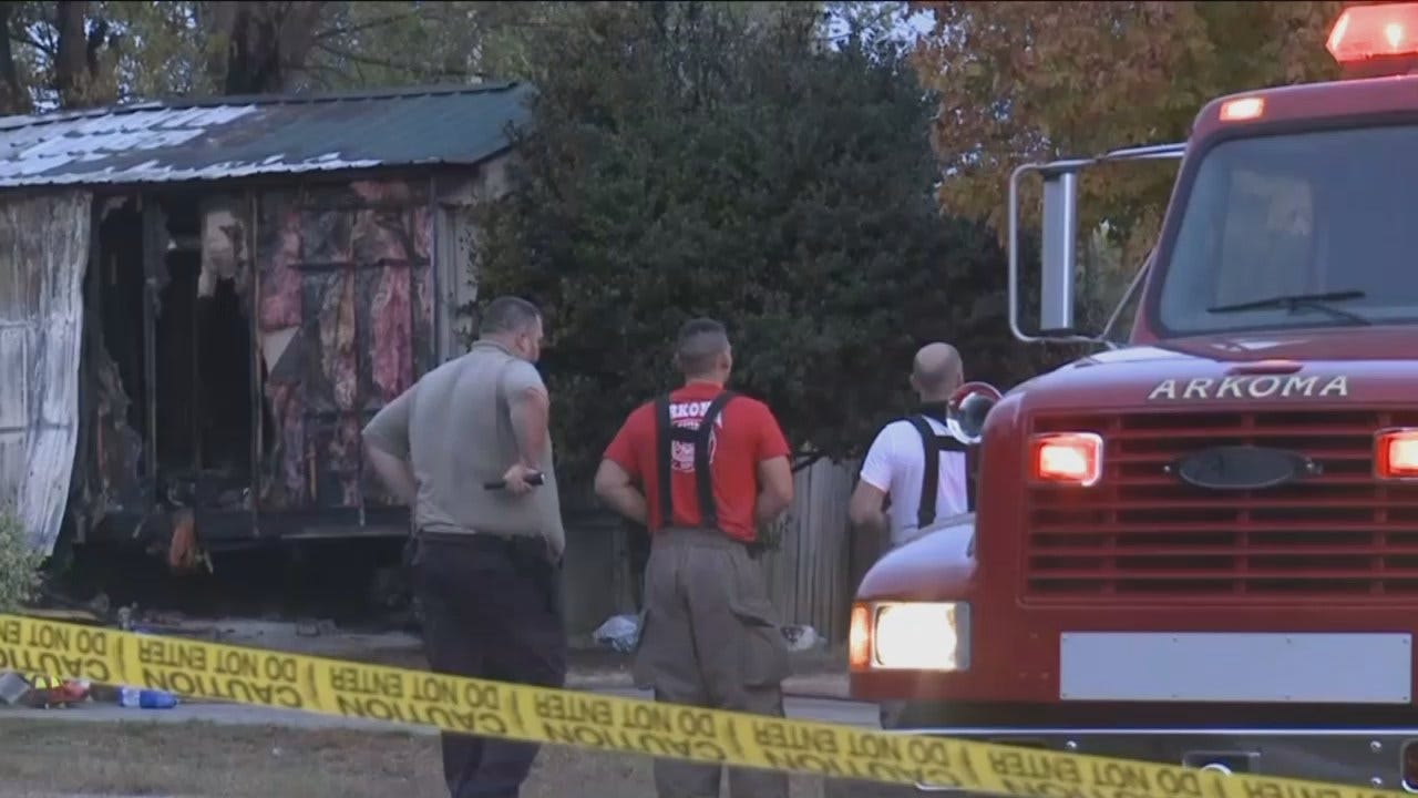WEB EXTRA: KFSM Video From LeFlore County Fatal Fire