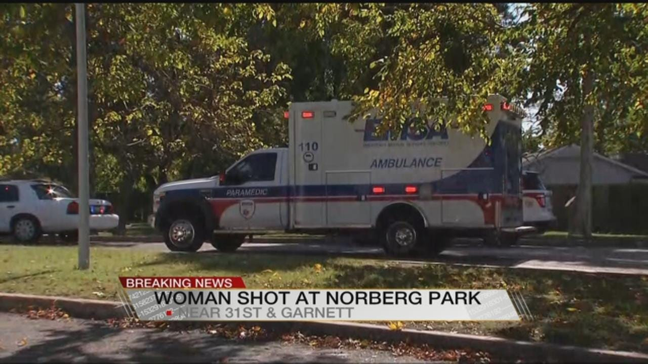 Tulsa Woman Hospitalized After Being Shot In Leg At Norberg Park