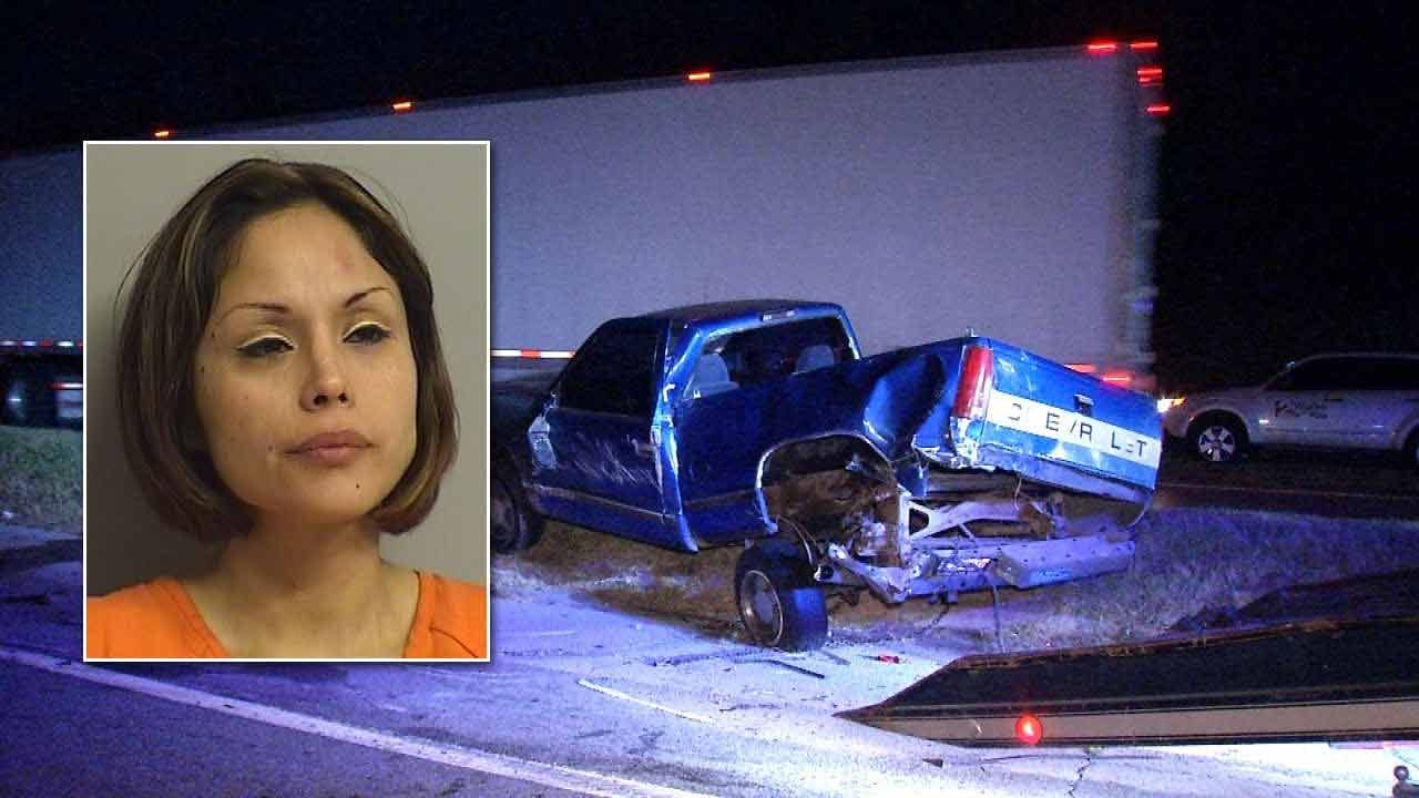Jenks Woman Arrested After Crashing Into Parked Truck