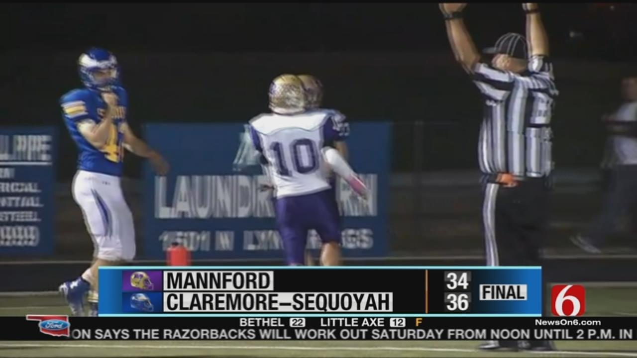 Claremore-Sequoyah Prevails Over Mannford In Week 7