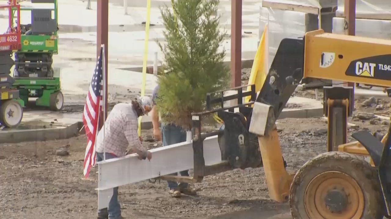 WEB EXTRA: Video From The School's Topping Out Ceremony