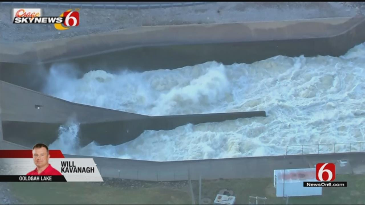 Spillway Gates Open At Lake Oologah