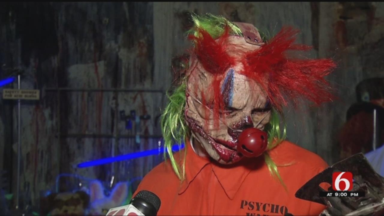 Broken Arrow Haunted House Features Creepy Clowns
