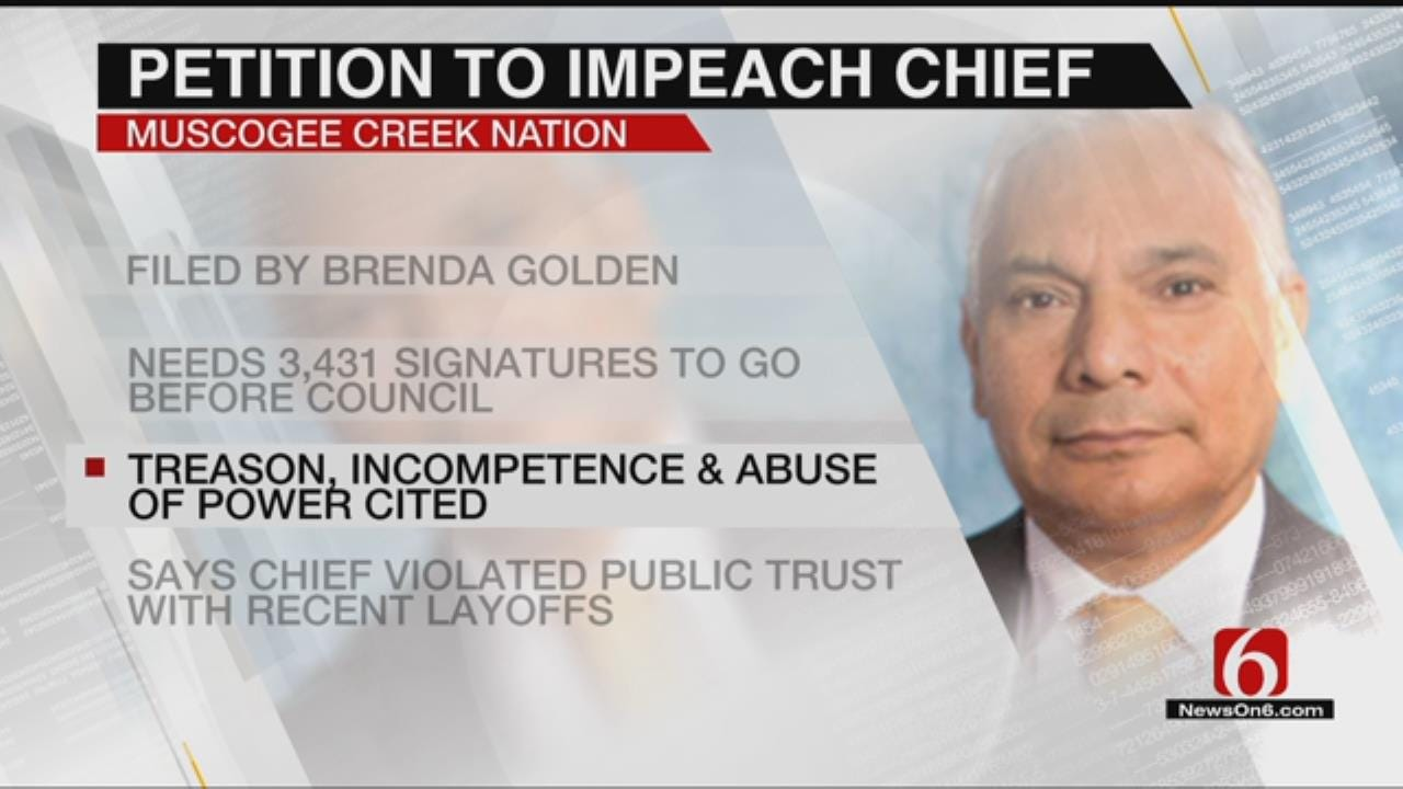 Creek Nation Citizen Files Petition To Impeach Chief