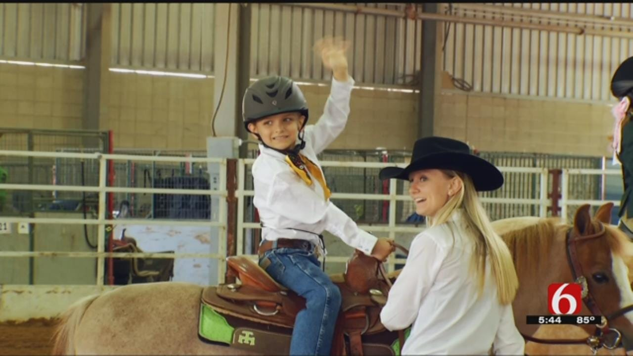 6-Year-Old Cancer Patient Shows Pony At Tulsa State Fair