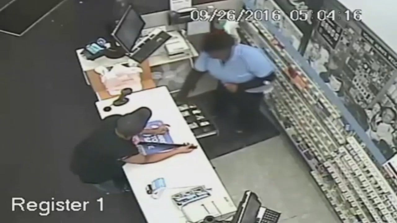 Tulsa Police Release Walgreens Surveillance Video From Robbery