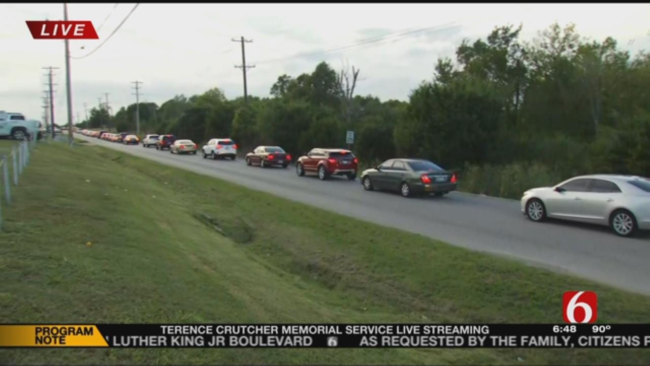 Hundreds Line Street Outside Church To Support Crutcher Family