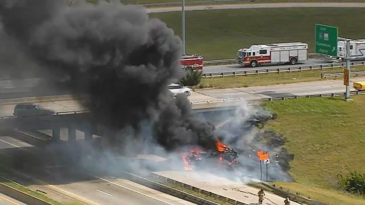 Osage Casino Skycam Network Video Of Truck Fire