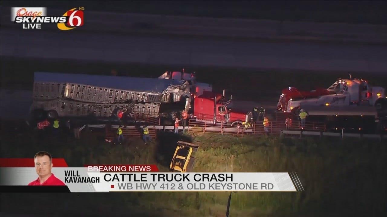 Osage SkyNews 6 HD Flies Over Cattle Truck Wreck