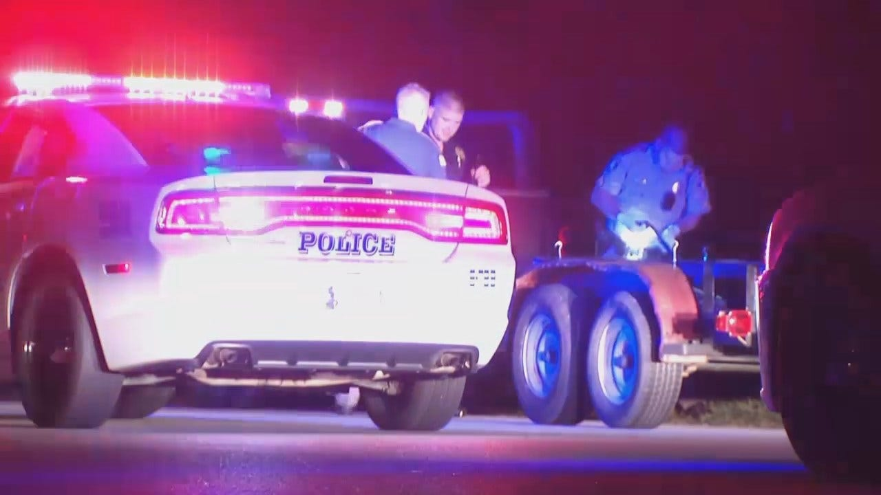 WEB EXTRA: Video From Scene At End Of Sapulpa Police Chase, Arrests