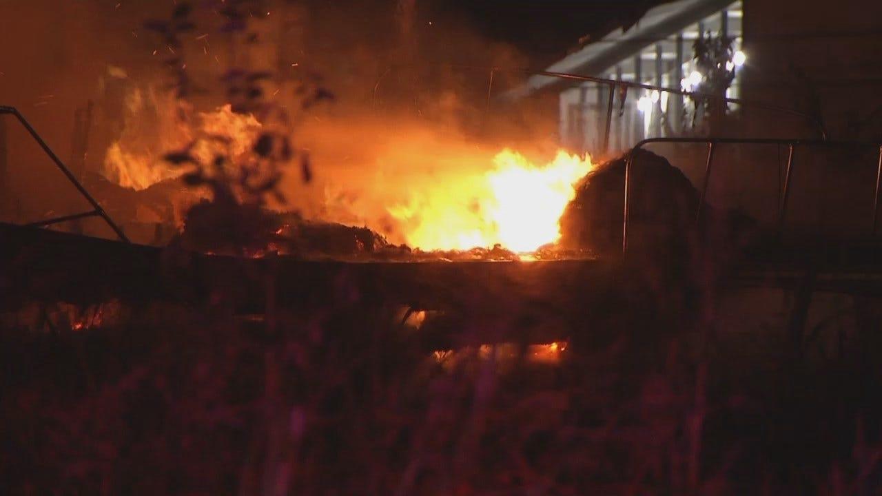 Fire Destroys Boat Parked Outside Sapulpa Building