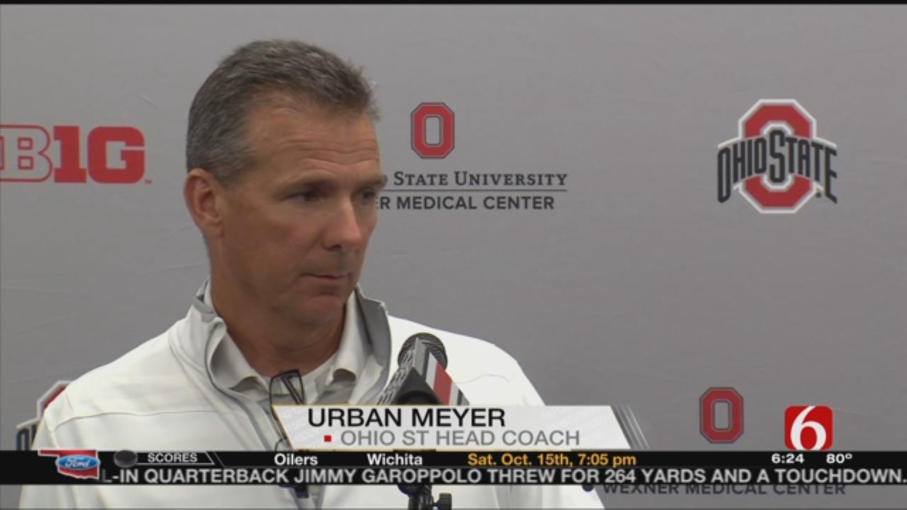 Ohio State Head Coach Urban Meyer Talks OU Defense
