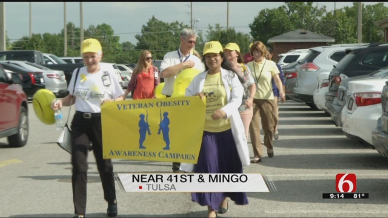 Tulsa VA Clinic Walks For Obesity Awareness