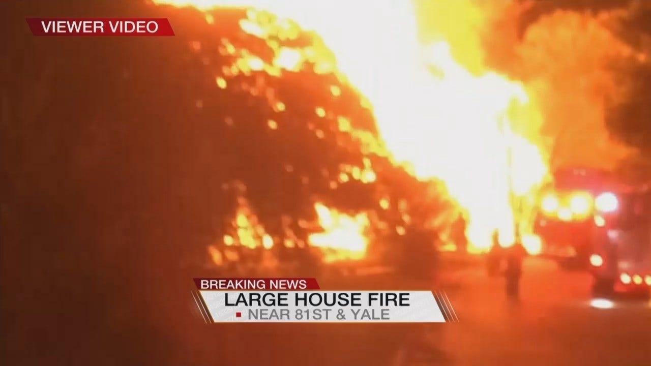 VIEWER VIDEO: South Tulsa House Fire